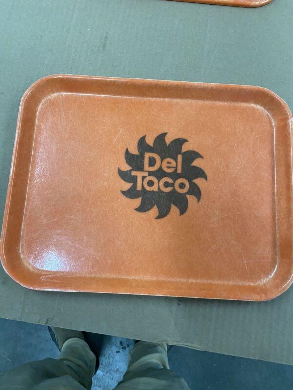 del taco rare  vintage orange serving tray  date  8-78 camtray cambro nsf each