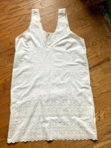 Unbranded Embroidered Vintage Preowned Cotton Slip Dress Nightgown Women
