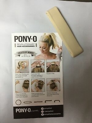 (1) ONE PONY-O Hair Tie Band Clip NEW!   **Champagne Blond**     Free Shipping