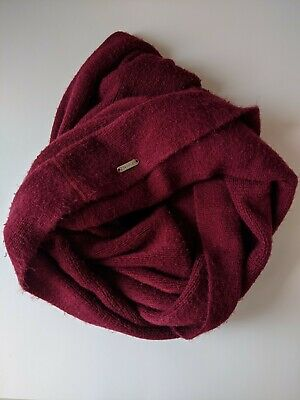 CALVIN KLEIN INFINITY SCARF LIGHTWEIGHT ACRYLIC MAROON ONE SIZE