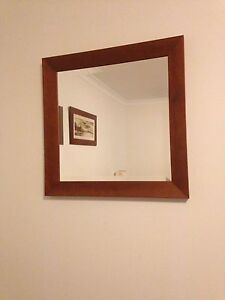 Square wooden mirror Beaconsfield Fremantle Area Preview