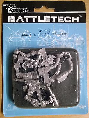 Ral Partha Battletech 20-745 Heavy & Assault Mech Arms (Mint, Sealed) *Unseen*