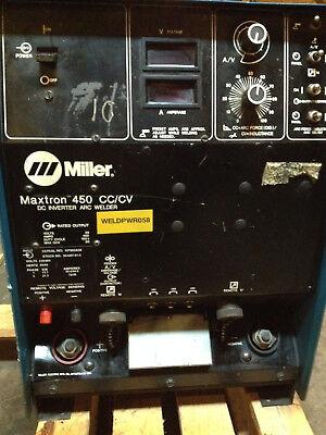 Miller Maxtron 450 Cccv-dc Inverter Mig Arc Welder Welding Source