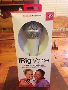 Microphone karaoke style for tablet or phone