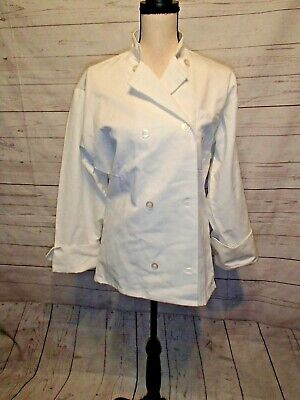 Uncommon Threads White Chef Coat Adult Small
