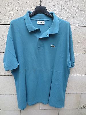 Polo lacoste devanlay made in france bleu manches courtes coton jersey 7 xxxl
