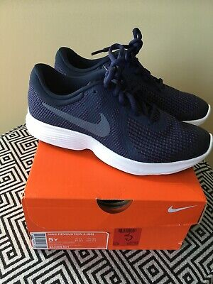 Nike Revolution 4 (GS) Kids Blue(indigo) Tennis Shoe Size 5y