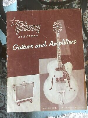 Vintage Guitar Catalog Gibson Guitars And Amplifiers 1958