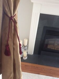 Curtains and picture frames decor