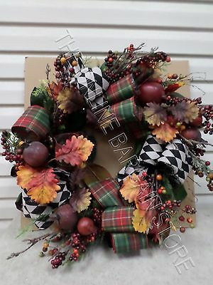 Frontgate Grandinroad Christmas Abbeville Door Hanging Wreath Grapevine Decor 28