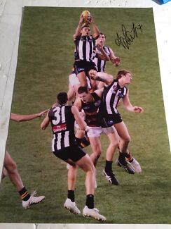 Andrew Andy Krakouer signed photo Collingwood magpies