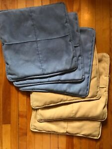 Six ultra suede pillow covers
