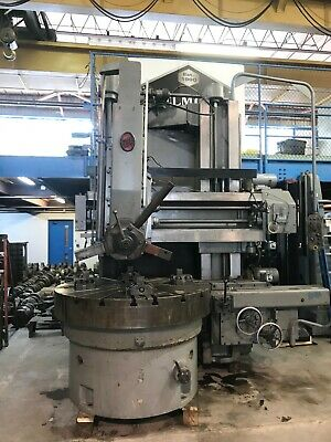 63 O-m Vertical Turret Lathe 1970 75 Swing 4 Jaw 59 Under Rail