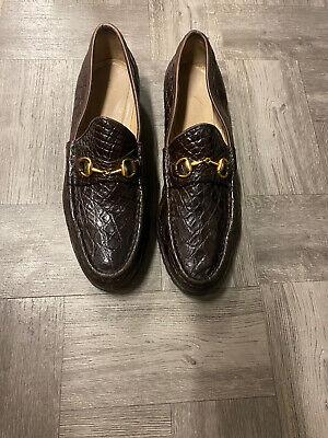 Vintage Gucci Croc Embossed Loafer 10.5