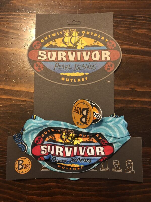 Survivor: Pearl Islands teal buff - New w/card and tags - Season 7