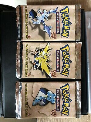 POKEMON 1ST ÉDITION FOSSIL EMPTY BOOSTER PACKS LOT