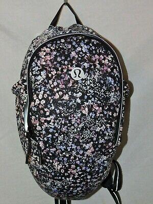 Brand New! Lululemon Fast Free Backpack - $128 MSRP - Floral Spritz Multi Black