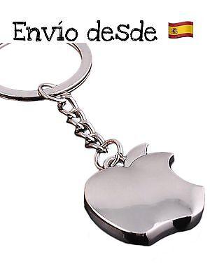 3D Apple Llavero Metálico Manzana Mordida Calidad Premium