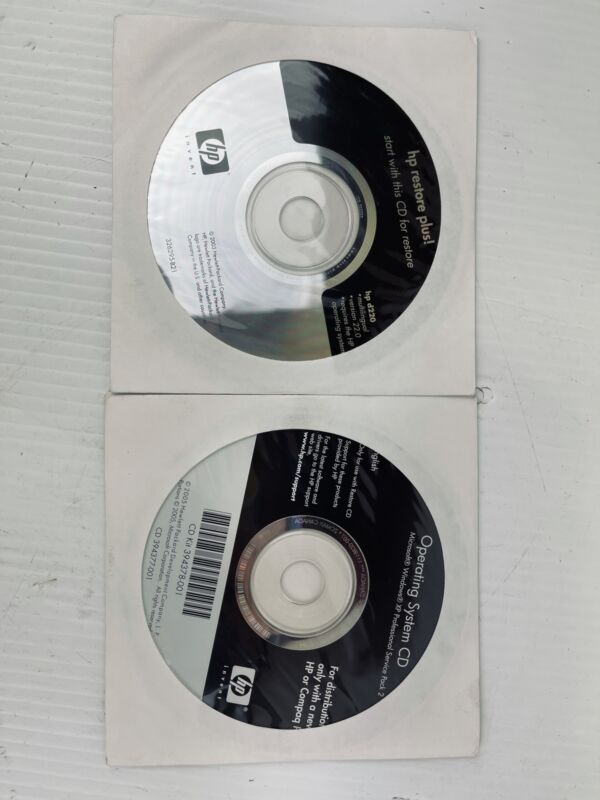 HP Restore Plus! HP D220 and Operating System CD XP Professional Service Pack 2