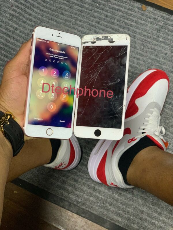 Apple Iphone 6s Plus Cracked Screen Glass Repair Replacement Service