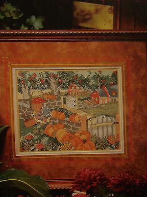 CROSS STITCH PATTERN ~ HALLOWEEN,AUTUMN, PUMPKINS ON THE WALL, HOUSE, APPLE TREE - The Halloween Tree Pumpkin