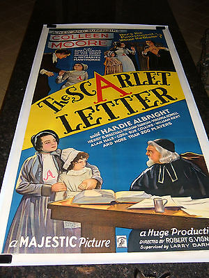 "THE SCARLET LETTER Original Movie Poster, 41"" x 79"", C8.5 Very Fine/Near Mint *R"