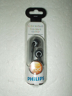 Philips Color Earbuds In-Ear Headphones Black SHE2641 NEW for sale  Shipping to India