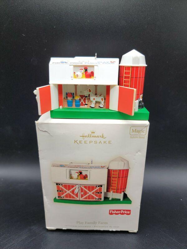 2008 Hallmark Fisher Price Play Family Farm Ornament With Box