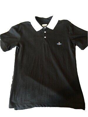 Authentic Vivienne Westwood MAN Black Collar Polo Shirt S - M