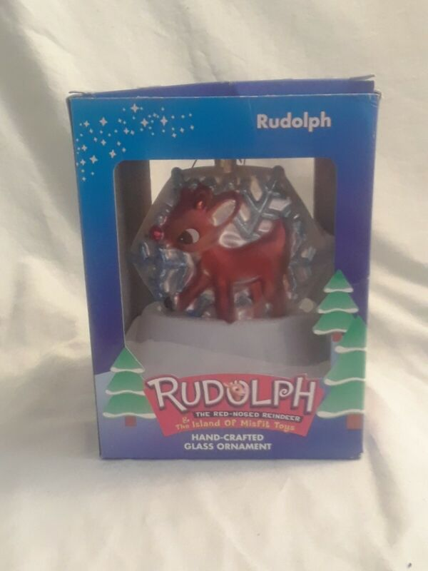 2001 Rudolph Brass Key Collection Rudolph Island of Misfit Toys Glass Ornament