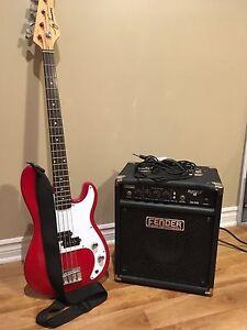 Guitare basse et amplificateur