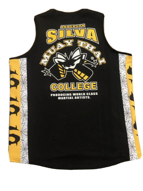 UFC SINISTER ANDERSON SILVA MUAY THAI COLLEGE JERSEY SIZE LARGE MINT 🔥