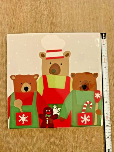 Crate & Barrel - Holiday Bears Trivet - 8 inch - Christmas