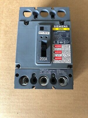 Siemens Hqr23b200 Breaker 200amp 240v 3pole New Hqr2 New No Box