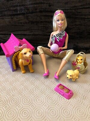 Barbie With Dog Puppies, Accessories Playset Bundle