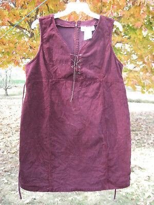 Motherhood burgundy corduroy maternity dress jumper size L