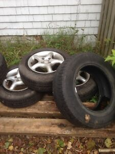 Tires and 3 rims