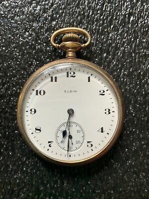 1920 GOLD FILLED ELGIN NATL.WATCH CO. U.S.A POCKET WATCH 24235827 Notes