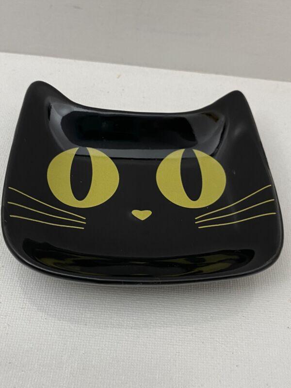 Kitty Cat Trinket Jewelry Ring Dish Tray Mid Century Retro Vibe