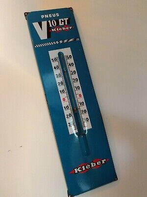 """Kleber Garage Advertising Metal Original Vintage Sign 27"""" x 7"""" Circa 1960's"""