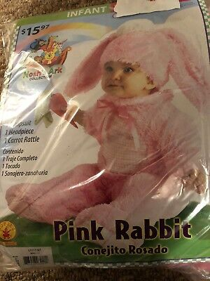 Halloween Costume Infant  Pink Rabbit 6 - 12 months or 12- 18 months - Baby Rabbit Costume