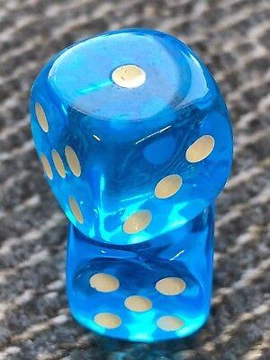 aqua blue dice set of 2 dice gift beautiful blue transparent color -
