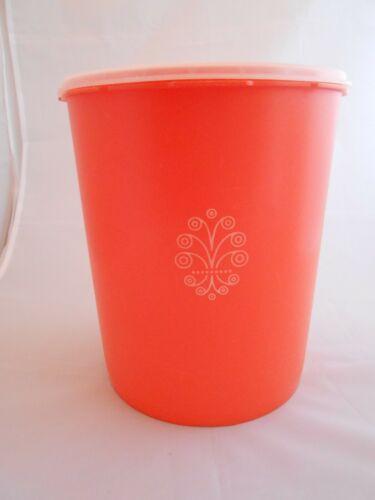 Vintage Tupperware Servalier Canister, Orange, Retro Harvest, 1339-4, Large