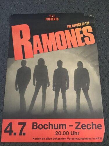 VINTAGE RAMONES GERMAN TOUR PROMO POSTER PROMOTIONAL GERMANY PUNK ROCK