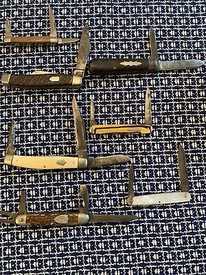 Vintage Pocket Knife Lot! Stag, Boy Scout, Browning, Schrade