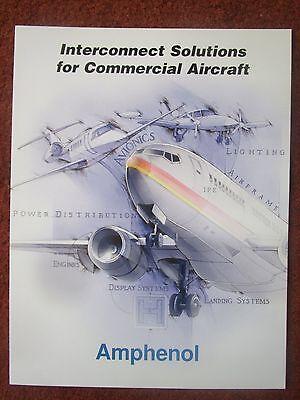 DEPLIANT PUB AMPHENOL COMMERCIAL AIRCRAFT CONNECTOR CIRCUITRY AVIONICS LIGHTING Aircraft Amphenol Avionics Connector