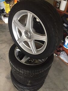 Multibolt rims with tires 5x114.3 & 5x100