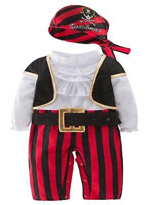 Cap'n Stinker Pirate Halloween Costume (Infant Baby Boy Cap'n Stinker Pirate Halloween Costume 4 pcs)