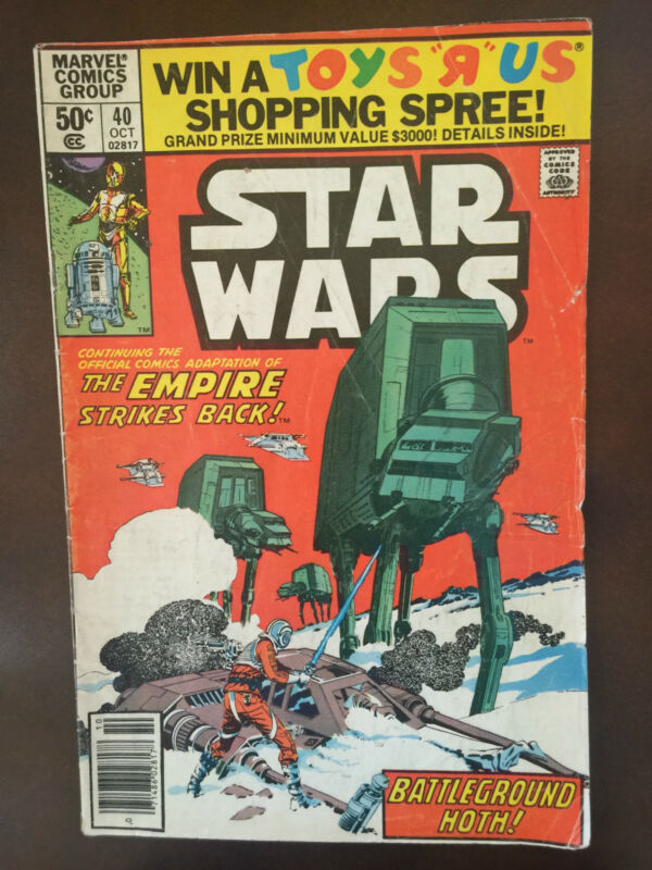 Star Wars Marvel Comics Group Volume No. 40; 50 cents  1980
