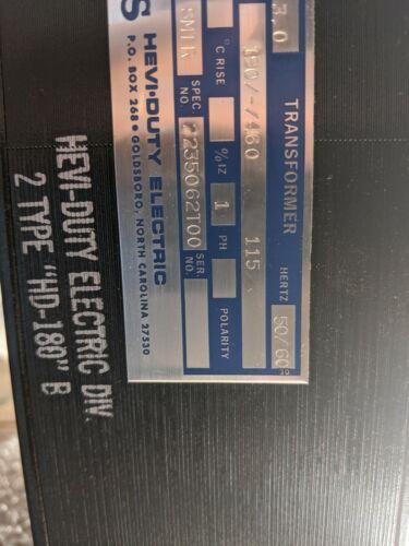 Hevi-Duty 3KVA transformer